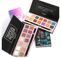 lip palette professional 2020 - Professional Eyeshadow Palette 14 Colors Makeup Eye Shadow Bright Glitters Makeup Lips Face Glitter Palette With Brush d