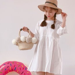 straw bag hand weaving Canada - Factory direct super cute hand-woven beach bag cute hit color yarn ball straw bag small fresh leisure bag