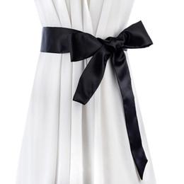 Discount wholesale fabrics for dresses - 2017 new fabric wide belt high quality textile bowknot lons for women match dress ribbon Satins Cummerbund female belt
