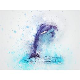$enCountryForm.capitalKeyWord Australia - Drop shipping dolphin diamond painting Animal diamond kits full cross stitch home decor Wall Art Painting gift free shipping