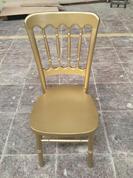 White Chairs For Wholesale Australia - factory low price wooden used gold silver white chateau castle chair for banquet