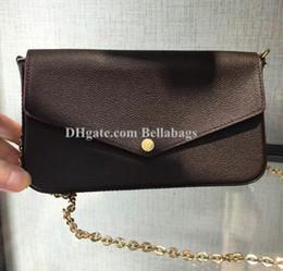fb2745049 276 Bolso original para mujer Bolso bandolera tres en un conjunto monedero  billetera porta tarjetas titular de marca diseñador famoso