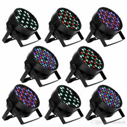 54X3W Luci LED per palcoscenici DMX 512 Control LED DJ PAR Luci RGBW Stage Lighting Proiettore Party DJ KTV Bar Stage Club in Offerta