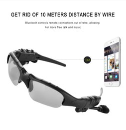 SunglaSSeS phone earphoneS online shopping - V4 Wireless Bluetooth Outdoor Sunglasses Sun Glasses Stereo Handsfree Headset Earphones Earbuds for smart phone