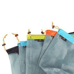 $enCountryForm.capitalKeyWord NZ - Outdoors Camp Pouch Ultra Light Net Yarn Storage Bag Down Sleeping Compress Sack Hiking Tools Climbing Equipment 10 29sb5 bbWW