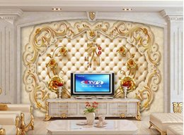 $enCountryForm.capitalKeyWord NZ - 3d room wallpaper custom photo mural European marble embossed rose tv background wall home decor 3d wall murals wallpaper for walls 3 d