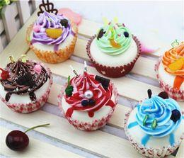 Cupcakes Mix Australia - Kawaii Squishies Cake 7cm PU Expression Cupcakes Rare Squishy Bread model Christmas gift mix color -24pcs