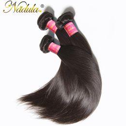 brazilian straight hair products 2019 - Nadula Hair Products 1Bundle Indian Straight Hair 8-30 inch Non-Remy 100% Human Weave Bundles Machine Double Weft cheap