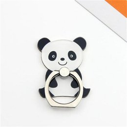 black cat phone holder NZ - Cartoon Animal Panda Mobile Phone Stand Holder Finger Ring bracket Smartphone Cute Cat Holder Stand For iPhone 9 x 8 7 6 Xiaomi All Phone