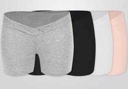 407ba7aa4d841 2pcs set Maternity Legging Short Soild Color Medal Cotton Seamless Safely  Shorts For Pregnant Women Homewear Panties Underpants