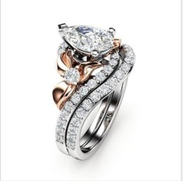 ring ornament UK - Jewelry creative gold plated zircon ring fashion for European and American men's ladies hand ornaments
