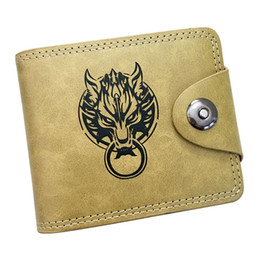 card holder wholesale NZ - TOP Anime Final Fantasy FF Wolf Leather Wallet Purse Card Holder Money Bag for Cosplay Collection