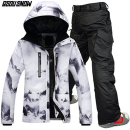 3f25898d03 Winter Ski Clothing Brands Australia - GSOU SNOW Brand Winter Ski Suit Men  Skiing Jackets Snowboarding