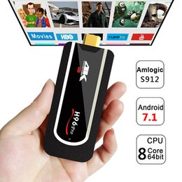 China H96 Pro H2 Mini PC Amlogic S912 Octa-Core Android 7.1 TV Box 2G 8G Support 4K H265 Mini Android HDMI H96 TV Stick Full HD Smart TV Dongle suppliers