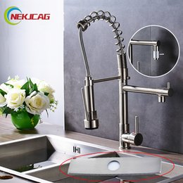 Single handle kitchen Sink faucetS online shopping - New Arrival Nickel Brushed Kitchen Mixer Cold and Hot Tap Single Handle Sprayer Faucet Sink Tap