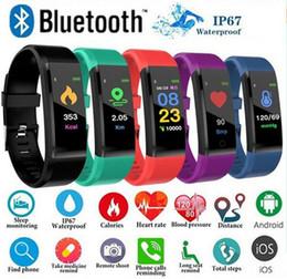Опт ID 115Plus Смарт Фитнес-Браслет Tracker 115 плюс Красочный Экран Монитор Артериального Давления Женские Часы для iphone xiaomi