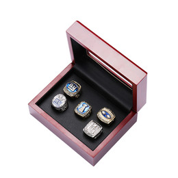 tin boxes wholesale NZ - Drop shipping 5pcs ALLOY RING 1986 1990 2007 2000 2011 New York Giants CHAMPIONSHIP RINGS FOR MAN WITH BOX SIZE 11