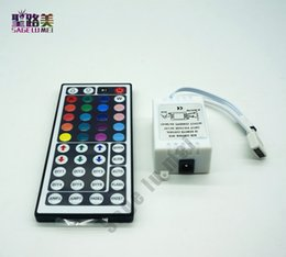 44 Key Mini Controller Australia - 44 Keys LED IR RGB Controller For SMD 5050 LED Strip Lights Tape Ribbon mini IR Remote Wireless Dimmer Input DC12V 6A Free ship