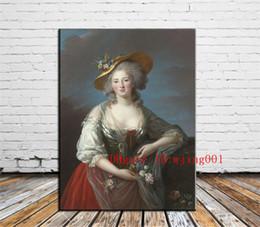 Marie Antoinette Revolução Francesa, Peças de Lona Decoração de Casa HD Impresso Pintura Moderna Da Arte na Lona (Sem Moldura / Emoldurado) venda por atacado