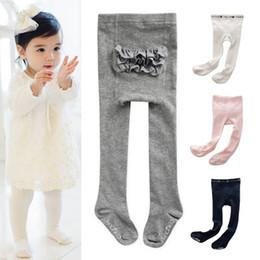 Gray Cotton Leggings Australia - Toddler Baby Kids Girls Lace PP Cotton Tights Socks Stockings Pants Hosiery Pantyhose