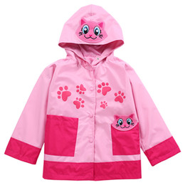 $enCountryForm.capitalKeyWord NZ - fashion kids outdoor jacket coat European animal style waterproof trench coat for 1-6years children boys girls raincoat jacket costume