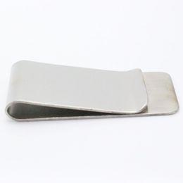 Metal Silver Money Clip Portable Rostfritt Stål Money Clip Cash Clamp Holder Plånbok Handväska för Pocket Dollar Holder
