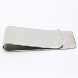 Metal Silver Money Clip Portable Stainless Steel Money Clip Cash Clamp Holder Wallet Purse for Pocket Dollar Holder
