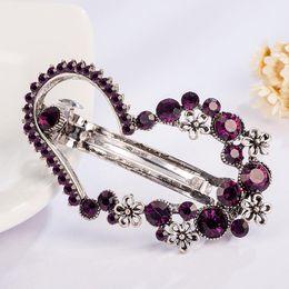 $enCountryForm.capitalKeyWord Canada - Vintage Purple Crystal Rhinestones Heart Leaf Hairpin Clip Hair Barrette Fashion Clips Hair Jewelryclips Hair Accessories