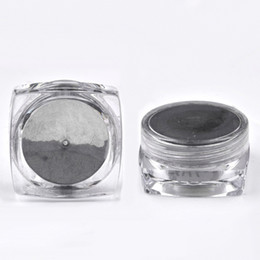 Wholesale Glitter Products UK - 2018 HOT Black Bright Nail Mirror Glitter Solid Color Nail Powder Products Manicure Tools