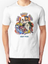 Cozy Shirt NZ - A$AP Mob - Too Cozy Tour Men's T shirt White Short Sleeves New Fashion T-Shirt Men Clothing100% Cotton Men T Shirt Tees Custom
