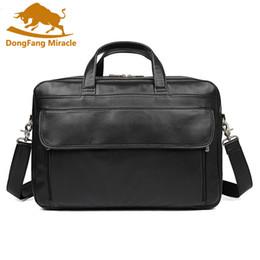 $enCountryForm.capitalKeyWord Canada - Large Size Genuine Leather Men's Briefcase Black Men Messenger Bags Business Portfolio Male Travel Bags Laptop Handbag