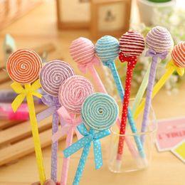 $enCountryForm.capitalKeyWord NZ - Novelty Cute Lollipop Ball pen Ball point pen Office supplies Stationery changeable 0.5mm blue Student prize