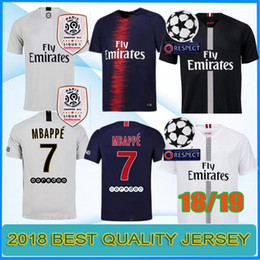 2018 2019 PSG third maillot MBAPPE soccer jersey CAVANI VERRATTI thailand  18 19 paris maillot de foot KIMPEMBE Camiseta de futbol 489e52bbd