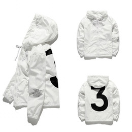HIP Jacket Hip Hop Windbreaker Fashion Vestes Hommes Femmes Streetwear Vêtements De Vêtements De Vêtements De Hip Hop Qualité JK001 en Solde
