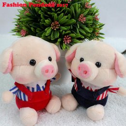 11cm lovely piggy pig plush keychain pendant bag ornament car key ring 5b6a50d4903a