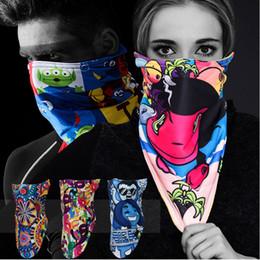 Skull Snowboard Face Mask Australia - New Skiing Half Face Mask Winter Warm Ski Masks Ride Bike Cap Mask Neoprene Bicycle Cycling Motorcycle Snowboard Face Mask Skull