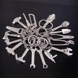 Universal Charm NZ - key chain Tool Keychain Monkey Wrench Hammer Spade Pliers KeyChain Pendant Charm Universal key ring 142