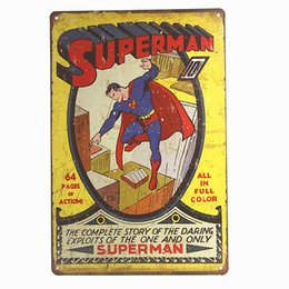 $enCountryForm.capitalKeyWord UK - Superman Comic Super Hero Distressed Retro Vintage Style Metal Tin Sign