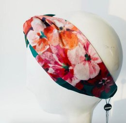 $enCountryForm.capitalKeyWord Australia - in stock hot luxury Designer 100% Silk Cross infinity Headband Fashion Brand Elastic Hair bands For Girl Retro Floral Bird Turban Headwraps