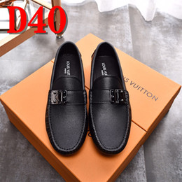 italian fabrics 2019 - 2018 Men Shoes luxury Brand Leather Casual Driving Oxfords Shoes Men Loafers Moccasins Italian Shoes for Men Flats cheap