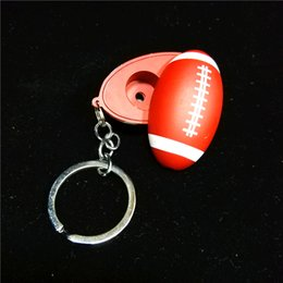 Keychain Pipes Australia - Brown Keychain Football Shape Mini Smoking Pipes Hand Tobacco Cigarette Pipes Meter Hand Pipes