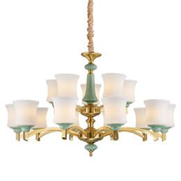 EnginEEring pEndant online shopping - European style chandelier lamp retro copper luxury hotel engineering restaurant living room lights wholesales copper art pendant lighting