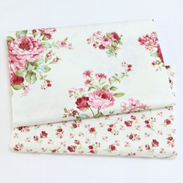 Apparel Sewing & Fabric Twill 5 Pcs Green Lattice Floral 100% Cotton Fabric Diy Patchwork Sewing Baby Bedding Fabric Wallet Purse Doll Cloth 40cm*50cm