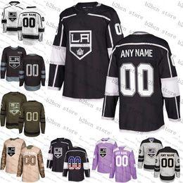 Wholesale king size men online – design 2018 Custom Men Women youth Los Angeles Kings Jeff Carter Anze Kopitar Drew Doughty Dustin Brown Jersey stiched size S XL