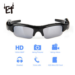 c944efe80c2 ET Wide Angle Sunglasses Camera Mini Eyewear DV DVR Video Recorder Outdoor  Sports Camcorder Support TF Card for Driving Glasses