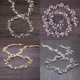 Rose gold cRystal haiR accessoRies online shopping - Pink Wedding Bridal Headpieces Bridesmaid Silver Handmade Rhinestone Pearl Hairband Headband Luxury Hair Accessories Fascinators Tiara Gold