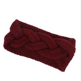 Опт Женщины глава Wrap широкий крючком лук узел тюрбан трикотажные лента для волос уха теплые повязки повязки для волос аксессуары