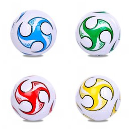 Large horse toys online shopping - Sports Goods Foot Ball Creative PU Football For Children Gifts Multi Color High Quality jx C R