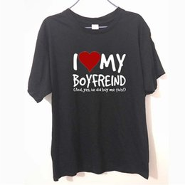 I Love My Boyfriend Yes He Bought Me Girlfriend Funny Birthday Gift FUNNY Humour T Shirt MENS SHIRT Great Tee Unisex