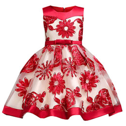 $enCountryForm.capitalKeyWord NZ - Flower Girl Dresses For Wedding Red High Low Girls Pageant Gowns Lace Applique Sleeveless Purple Tulle Puffy Kids Communion Dress